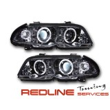 Head Light Angel Eyes for BMW E46 פנסי אנגלאייז במוו E46 סדן 4 דלתות 1999-2001רקע כרום
