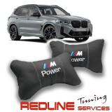 זוג כריות למשענת ראש במוו,BMW,Car Neck Pillow Auto Head Neck Rest Cushion Relax Neck Support Comfortable Soft