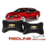 זוג כריות למשענת ראש CHEVROLET,Car Neck Pillow Auto Head Neck Rest Cushion Relax Neck Support Comfortable Soft