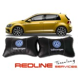 זוג כריות למשענת ראש VW,Car Neck Pillow Auto Head Neck Rest Cushion Relax Neck Support Comfortable Soft
