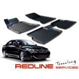 סט שטיחים,במוו סדרה 5, דגם E60,בעיצוב חדשני, עשוי מחומר PU איכותי הכולל פסים מיוחדים בצדדים להתאמה מושלמת ברכב, שטיח עבה במיוחד ונטול ריח רע. סט השטיחים ניתנים להתקנה עצמית פשוטה, קלה ומהירה, קל מאוד לניקוי ושטיפה ידנית. Car Floor Front & Rear Liner Mat F