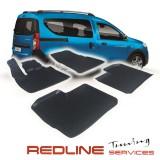 סט שטיחים דצ'ה דוקר, סט שטיחים קדמיים ואחוריים בעיצוב חדשני, עשוי מחומר PU, שטיח איכותי הכולל פסים מיוחדים בצדדים להתאמה מושלמת ברכב, שטיח עבה במיוחד ונטול ריח רע, סט השטיחים ניתנים להתקנה עצמית פשוטה ומהירה, קל מאוד לניקוי ושטיפה ידנית. 3D Car Floor Mats
