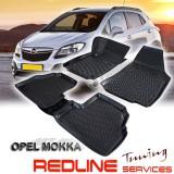 סט שטיחים תואם מקור אופל מוקה,בעיצוב חדשני, עשוי מחומר PET איכותי הכולל פסים מיוחדים בצדדים להתאמה מושלמת ברכב, שטיח עבה במיוחד ונטול ריח רע. סט השטיחים ניתנים להתקנה עצמית פשוטה, קלה ומהירה, קל מאוד לניקוי ושטיפה ידנית. Car Floor OPEL MOKKA  Front & Rear