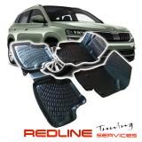 סט שטיחים תואם מקור סקודה קארוק בעיצוב חדשני,, עשוי מחומר PET איכותי הכולל פסים מיוחדים בצדדים להתאמה מושלמת ברכב, שטיח עבה במיוחד ונטול ריח רע. סט השטיחים ניתנים להתקנה עצמית פשוטה, קלה ומהירה, קל מאוד לניקוי ושטיפה ידנית. SKODA KAROQ Car Floor Front & R