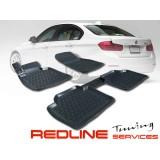 סט שטיחים,במוו סדרה 3, דגם F30,בעיצוב חדשני, עשוי מחומר PU איכותי הכולל פסים מיוחדים בצדדים להתאמה מושלמת ברכב, שטיח עבה במיוחד ונטול ריח רע. סט השטיחים ניתנים להתקנה עצמית פשוטה, קלה ומהירה, קל מאוד לניקוי ושטיפה ידנית. Car Floor Front & Rear Liner Mat F