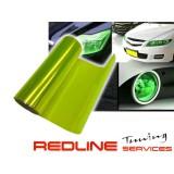 מדבקה לפנסים,PU ירוק בהיר שקוף,Car Auto Sticker Smoke Fog Light HeadLight Taillight Tint Vinyl Film Decal Sheet