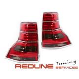 פנסים אחוריים לדים,טויוטה לאנד קרוזר FJ150,דגם חדש אדום מושכם