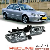 פנסי ערפל מזדה 323 Fog Lamp for MAZDA 323/PREMACY/FIGHTER 2004~ON,with wire&switch