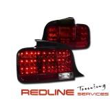 פנסים אחוריים עם לדים פורד מוסטאנג 2005-2010 אדום לבן