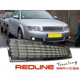 Front Bumper Center Lower Grille Grills for 02-05 03 04 Audi A4 B6 Sedan Chrome