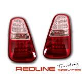 פנסים אחוריים עם לדים מיני קופר 2004-2010 אדום לבן, LED TAIL LIGHTS MINI COOPER