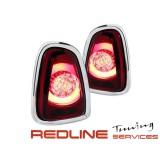 פנסים אחוריים עם לדים מיני קופר 2011-2015 אדום לבן,LED TUBE TAIL LIGHTS MINI COOPER RED WHITE