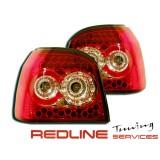 פנסים אחוריים לדים גולף 3 אדום מושכם,LED TAIL LIGHTS VW GOLF MK3