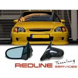מראות צד הונדה סיויק הצ'בק 3 דלתות,דגם SPOON,For 1996-2000 Honda Civic JDM Spoon Side Door Manual Mirrors Black