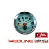 שעון לחץ שמן ,חברת AUTOGUAGE,כולל יונית לחץ שמן