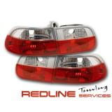 פנסים אחוריים שקופים קריסטל אדום לבן,הונדה סיויק 1992-1995, הצ'בק 3 דלתות