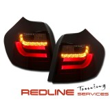 פנסים אחוריים BMW E 87/E81 אדום מושכם לד באר,NEW TOP SET TAIL LIGHTS BMW E87/E81 04-08.07 RED SMOKE LED BAR