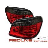 SK1700-10504-ERS,פנסים אחוריים שקופים עם לדים במוו 4 דלתות סדרה 5 דגם E60,2004-2007,REAR LIGHT LED BMW WHIT LED INDICATOR