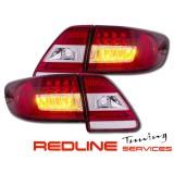 פנסים אחוריים,לדים,טויוטה קורולה 2011-2013,סדאן,אדום לבן,פנסי איתות לדים, Led Tail Lights for TOYOTA COROLLA sedan