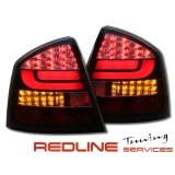 פנסים אחוריים עם לדים סקודה אוקטאביה 2005-2008, SKODA OCTAVIA LED TAIL LIGHTS RED SMOKE