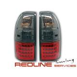 פנסים אחוריים שקופים עם לדים לטויוטה פראדו FJ90,דגם אדום מושכם