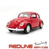 פולקסווגן חיפושית, 1:32 דגם אדום, VW BEETLE DIE CAST MODEL