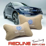 זוג כריות למשענת ראש VW,Car Neck Pillow Auto Head Neck Rest Cushion Relax Neck Support Comfortable Soft