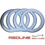 חישוקים לבנים לגלגלים, מידה 16, סט כולל 4 יחידות,חברת ATLAS,Old Firestone tire style 16''x3'' White Walls Tire Insert Trim 4 pcs. Portawalls