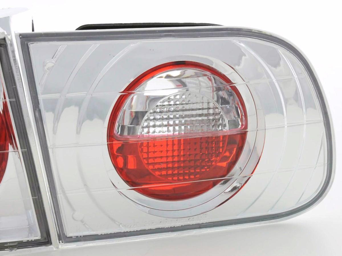design taillights fit for honda civic 3 pcs typ eg4 eg8 yr 92 95 chrome. Black Bedroom Furniture Sets. Home Design Ideas
